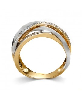 Pierścionek z żółtego złota z brylantami 0,50 ct 207/05/n 0,50 ct H/Si