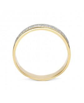 Pierścionek z żółtego złota z brylantami 0,51 CT H/Si