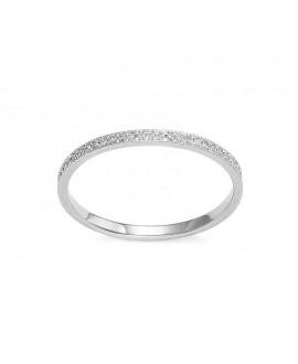 Pierścionek z białego złota z brylantami 0,11 CT H-I/Si-P2