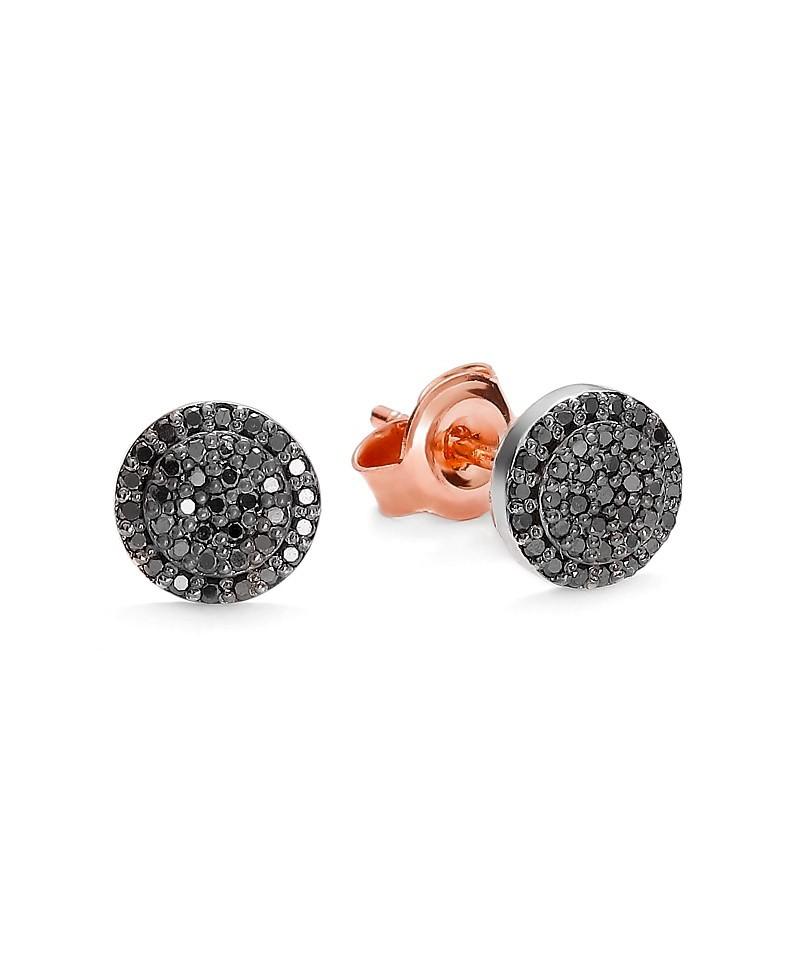 Kolczyki różowego i białego złota z czarnymi brylantami 0.22 ct 317/05 0.22 ct