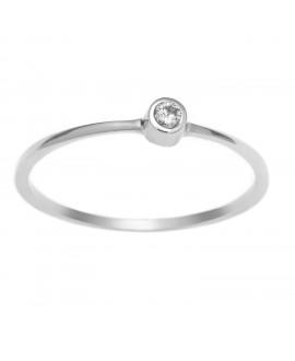 Trzy pierścionki - brylant 277-05 białe złoto 0,04ct