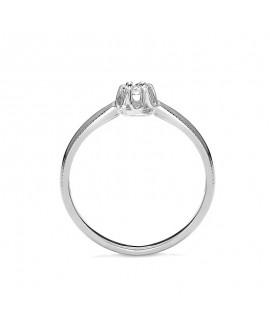 Pierścionek z białego złota z brylantem 0,015 CT H/Si t314-05