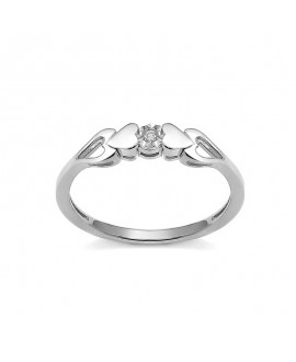 Pierścionek z białego złota brylantem 0,015 ct t415--05