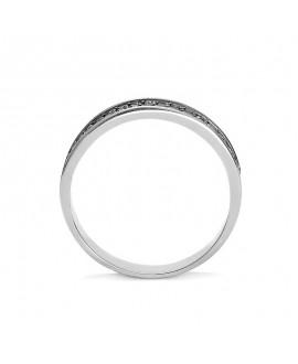 Pierścionek z białego złota z czarnymi brylantami brylantami - 358/05 - 0,34 CT Czarne Brylanty