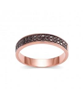 Pierścionek z różowego złota z czarnymi brylantami brylantami 0,34 ct 358-05-czarne brylanty-rozowe-zloto