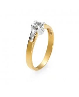 Pierścionek z żółtego złota z brylantem 0,14 ct z171 0,14 ct H/Si