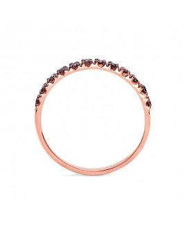 Pierścionek z różowego złota z czarnymi brylantami- 345/05 - 0,24 CT Czarne Brylanty