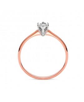 Pierścionek z różowego złota z brylantami 0,05 ct t431-05