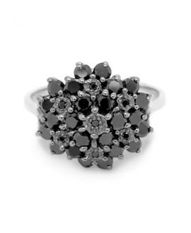 Pierścionek z białego złota z czarnymi brylantami 1.16 ct 507 1.16 ct Black Diamonds