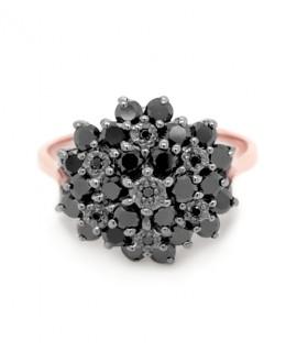 Pierścionek z różowego złota z czarnymi brylantami 1.16 ct 507 1.16 ct Black Diamonds