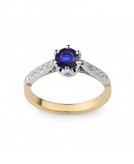 Pierścionek zaręczynowy - 283/05 0.10ct H/Si, Szafir
