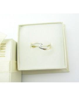 Pierścionek z żółtego złota z brylantem - 30/05 - 0,11 CT H/SI