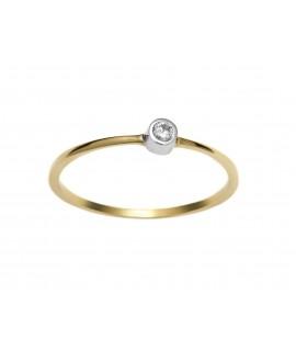 Pierścionek z żółtego złota z brylantem - 277/05 0.04 ct H/Si ring's