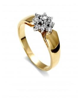 Pierścionek z żółtego złota z brylantami 0.22 ct 141 0.22 ct H/Si