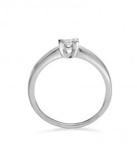 Pierścionek z białego złota z brylantem - 261/05 0.15ct H/Si - białe złoto
