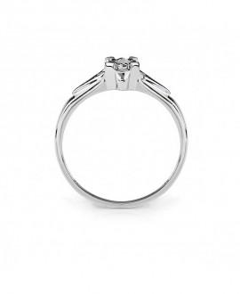 Pierścionek z białego złota z brylantem - t234/05 0.06 ct H/Si białe złoto