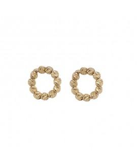 Kolczyki złote - sztyfty małe koła