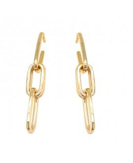 Kolczyki srebrne - złocone łańcuszki