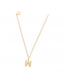 Bransoleta srebrna złocona- Literka W