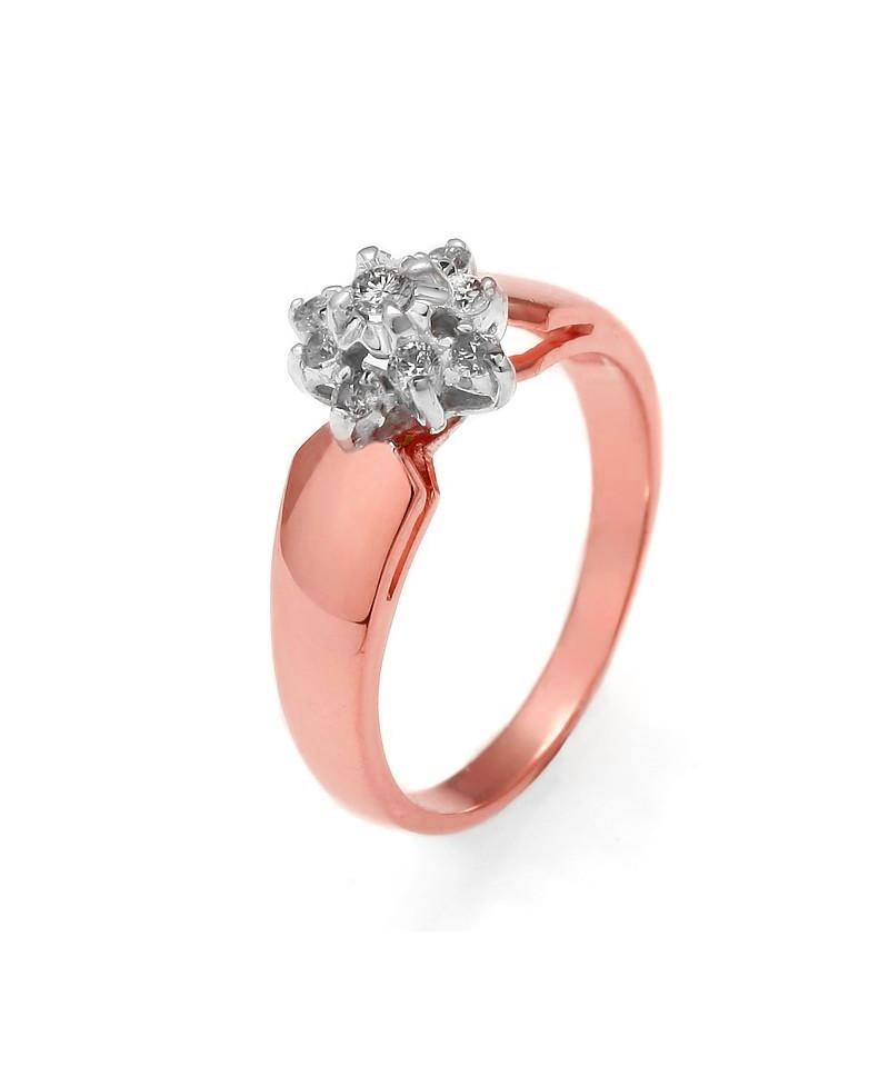 Pierścionek z różowego złota z brylantami 0.22 ct 141 0.22 ct H/Si
