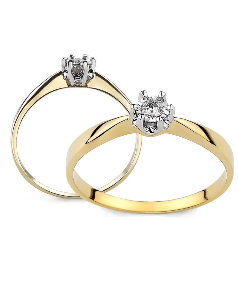 Pierścionek-z-żółtego złota-z-brylantem-0.08-ct-tz168