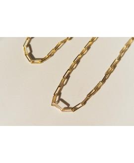 Naszyjnik z mosiądzu pozłacany - 45 cm