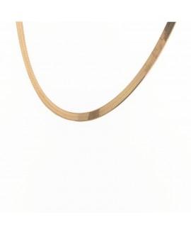 Naszyjnik srebrny pozłacany - 45 cm- taśma złocona