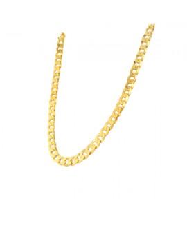 Łańcuszek srebrny złocony - Pancerka 42 cm