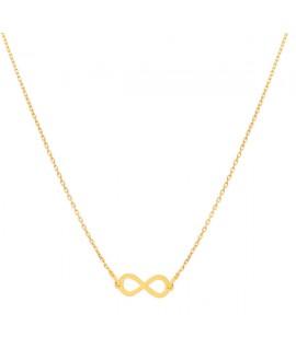 Naszyjnik srebrny złocony ze znakiem nieskończoności
