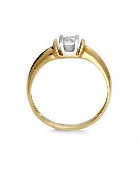 Pierścionek z żółtego złota z brylantem 0.18 ct 46/02 0,18ct