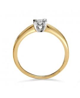 Pierścionek z żółtego z brylantem złota  0.11ct  261/05 H/Si