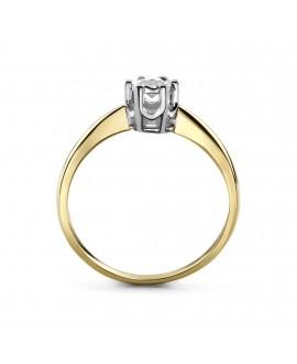 Pierścionek z żółtego złota z brylantem 0,10 ct t328/05 0,10 ct H/Si