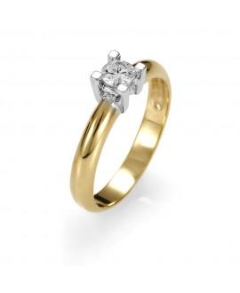 Pierścionek z żółtego złota z brylantem 0.25ct 256-05