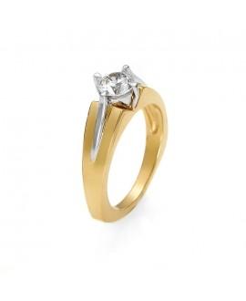Pierścionek z żółtego złota z brylantem  0.50ct H/Si2 216-03