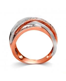 Pierścionek z różowego złota z brylantami 0,50 ct H/Si