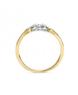 Pierścionek z żółtego złota brylantem -T415/05 - 0,015 CT H/SI